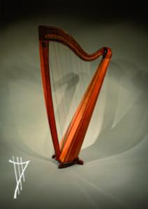 Große keltische Harfe